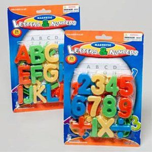 Magnetic Alphabet Letters & Numbers Lot NEW